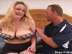 Mom and Boy, Banging, Big Tits, Boobs, Bra, Couple