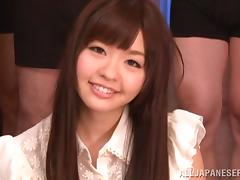Bukkake Action as a Japanese Girl is Gangbanged