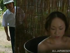 Japanese, Asian, Couple, Doggystyle, Japanese, Outdoor