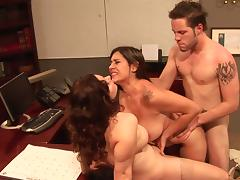 All, Brunette, Curly, Ffm, MILF, Office