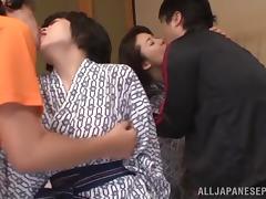 Eiko Katou, Chiaki Takeshita hot Asian chicks fuck