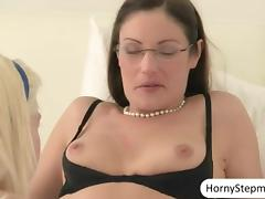 Chloe Foster 3some with milf n facialed