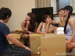 Horny Japanese Couple Fucking in a Public Hostel