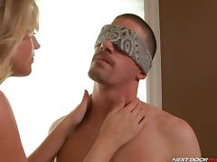 Blindfolded, Big Cock, Blindfolded, Blowjob, Erotic, HD