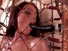 All, Nude, Oil, Small Tits, Spanking, Cage