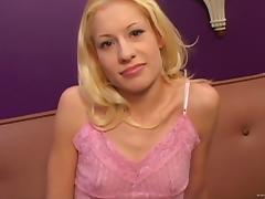 Interracial pleasure for the horny blonde Morgan March