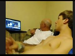 YOUNG STRAIGHT GUY STROKING WITH OLDER GUY