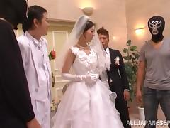 Bride, Asian, Banging, Blowjob, Bride, Cum