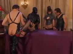 Girl in latex clothes fisted and fucked