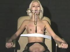 Extreme needle torture and hardcore bdsm of blonde slavegirl