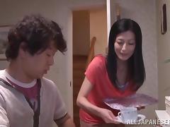 Asian Mature, Asian, Big Cock, Blowjob, Couple, Handjob