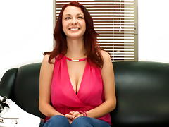 Red-Head Gets Fucked Hard On Cam!