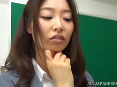 Sexy Japanese Teacher Gangbanged Doggystyle In Class