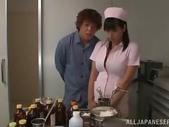 Alluring japanese nurse with big tits Hana Haruna gets fucked hardcore
