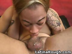 Latina Slut Rough Face And Doggysytle Fucking On Sofa