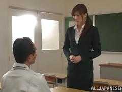 Horny Asian college teacher with getting her ass licked then gives a blowjob before getting banged hardcore