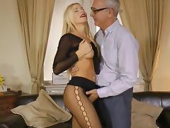 Beauty, Beauty, Blonde, Blowjob, Boots, Pantyhose